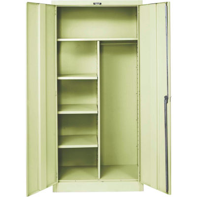 Hallowell 455C18A-PT 400 Series Solid Door Combination Cabinet, 36x18x72, Parchment, Assembled