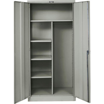 Hallowell 465C24A-HG 400 Series Solid Door Combination Cabinet, 48x24x72, Gray, Assembled