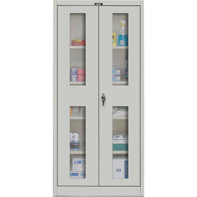 Hallowell MedSafe Antimicrobial 815S18EVA Ventilated Door Storage Cabinet 36x18x78 Assembled