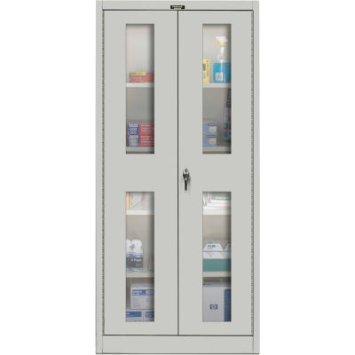 Hallowell MedSafe Antimicrobial 815S18SV Safety-View Door Storage Cabinet 36x18x78 Unassembled