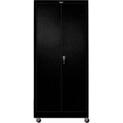 Hallowell 815S24M-ME 800 Series Solid Door Mobile Storage Cabinet, 36x24x78, Ebony, Unassembled