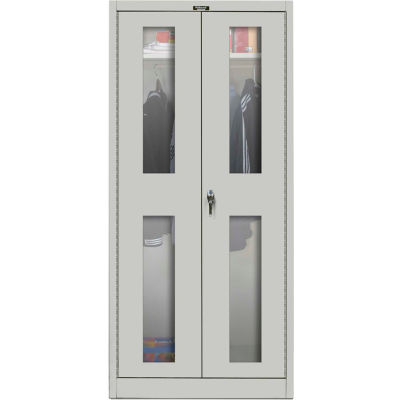 Hallowell MedSafe Antimicrobial 835W24SVA Safety-View Door Wardrobe Cabinet 36x24x78 Assembled