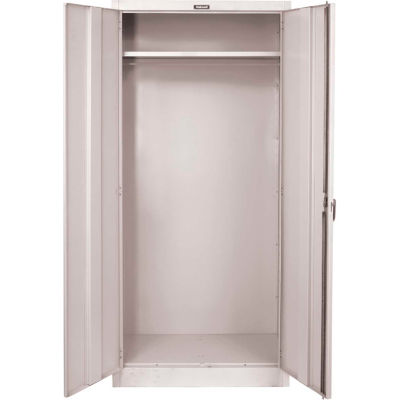 Hallowell 845W18A 800 Series Solid Door Wardrobe Cabinet, 48x18x78, Antimicrobial, Assembled