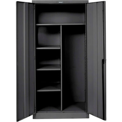 Hallowell 865C18ME 800 Series Solid Door Combination Cabinet, 48x18x78, Ebony, Unassembled