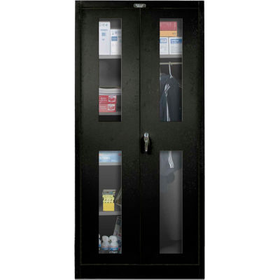Hallowell 865C18SV-ME 800 Series Safety-View Door Combination Cabinet, 48x18x78, Ebony,Unassembled