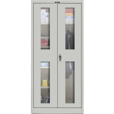 Hallowell MedSafe Antimicrobial 865C24SV Safety-View Combination Cabinet 48x24x78 Unassembled