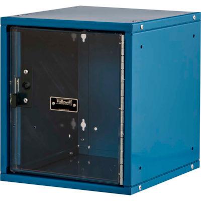 "Hallowell Cubix Modular Locker W/Safety-View Door & Padlock, 11-3/4""Wx11""Dx12-1/8""H,Blue,Unassembled"