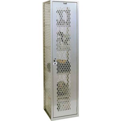 "Hallowell HLV882-1PL Welded Visible Storage Locker 18-3/4""X18""X74-3/4"" - Light Gray"