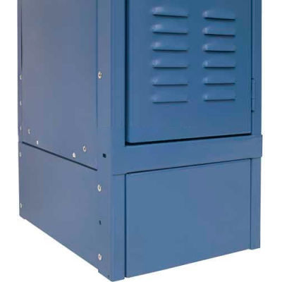 "Hallowell KCSB15MB Steel Locker Accessory, Closed Side Base 15""D x 6""H Marine Blue"