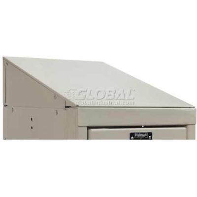 """Hallowell KISTT1215PT Steel Locker Accessory - Individual Slope Top 12""""W x 15""""D x 5""""H - Tan"""