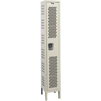 Hallowell U1558-1HDV Heavy-Duty Ventilated Locker Single Tier 15x15x72 - 1 Door Unassembled - Tan