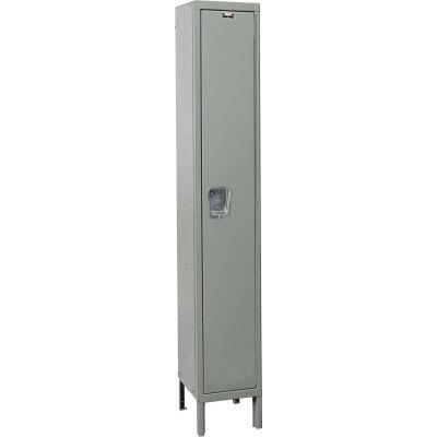 Hallowell UY1558-1A Maintenance-Free Quiet Locker Single Tier 15x15x72 1 Door Assembled - Dark Gray