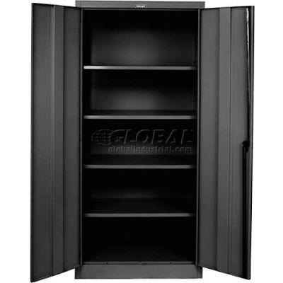 "Hallowell 8000 Series Storage Cabinet, 36""Wx18""Dx78""H, Midnight Ebony, Assembled"