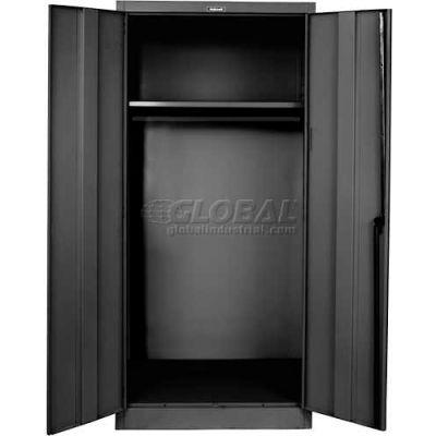 """Hallowell 835W24A-ME Wardrobe Cabinet, 36""""W x 24""""D x 78""""H, Midnight Ebony, Assembled"""