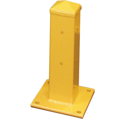 "Hallowell Steel Single Rail Post, 18""H, Safety Yellow"