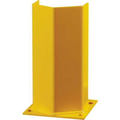 """Hallowell Steel Post Protector, 4.25""""L x 4.25""""W x 18""""H, Safety Yellow"""