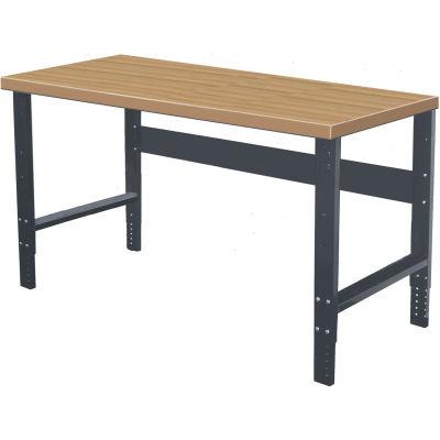 Hallowell 72 x 30 HWB7230E-ME Height Adjustable Workbench - Shop Top Square Edge