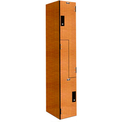 "Hallowell VersaMax Double Tier 2 Door Phenolic Locker W/ Key Cam Lock, 12""Wx18""Dx42""H, Assembled"