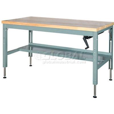 "Parent Standard Workbench W/ C Channel Leg, Maple Square Edge, 72""W x 30""D, Gray"