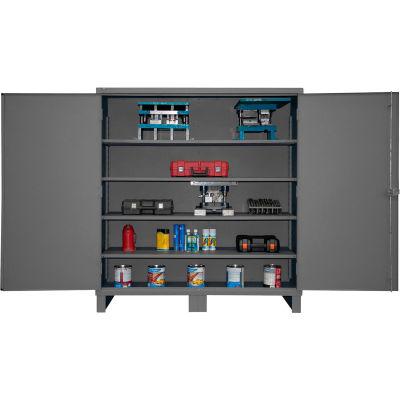 """Global Industrial™ 12 Gauge Gray Heavy Duty Cabinet, 72""""W x 24""""D x 78H"""""""