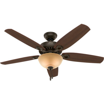 "Hunter Fan 52"" Builder Deluxe Ceiling Fan with Light 53091 - New Bronze"