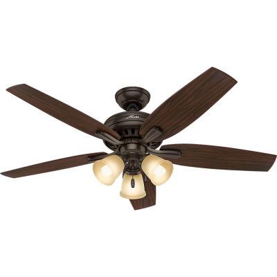 """Hunter Fan 52"""" Newsome Ceiling Fan with Light 53317 - Premier Bronze"""