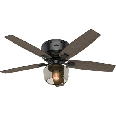 "Hunter Fan 52"" Bennett Ceiling Fan with Light and Handheld Remote 53393 - Matte Black"