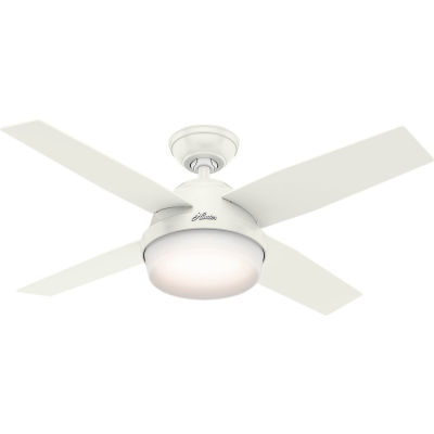 """Hunter Fan 44"""" Dempsey with Light Ceiling Fan with Light and Handheld Remote 59246 - Fresh White"""