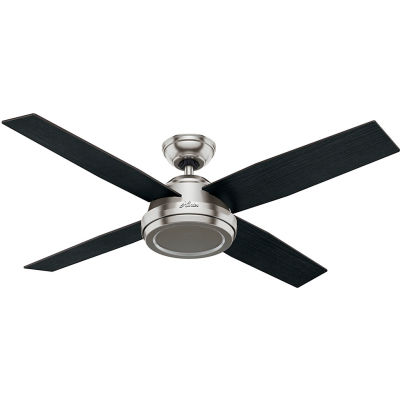"Hunter Fan 52"" Dempsey Ceiling Fan with Handheld Remote 59249 - Brushed Nickel"
