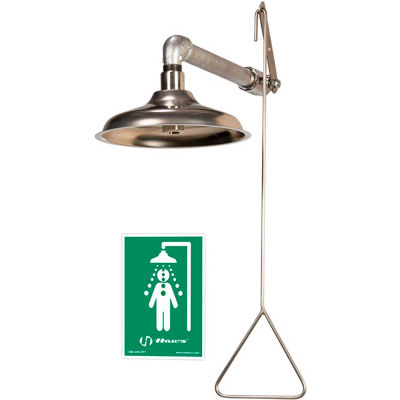 """Haws® AXION® MSR, 8123 Horizontal Or Vertical Drench Shower 10-1/2"""" SS Showerhead"""