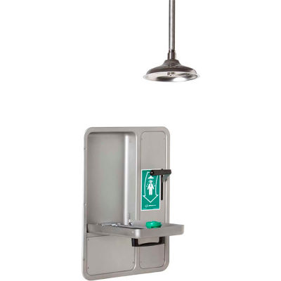 Haws® AXION®, 8356WCC, MSR Barrier-Free Wall-Mounted Recessed Combo Shower, Eye/Face Wash