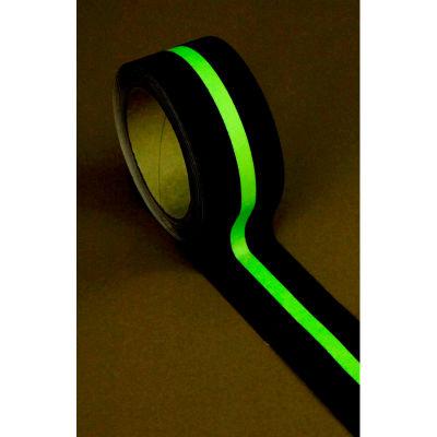 """Heskins Standard Black Anti Slip Tape, Glow In The Dark, 2"""" x 60'"""