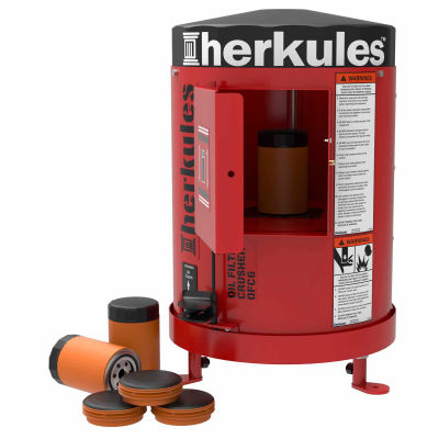 "Herkules Oil Filter Crusher, 3 Tons Crushing Force, 28""L x 28""W x 32""H"