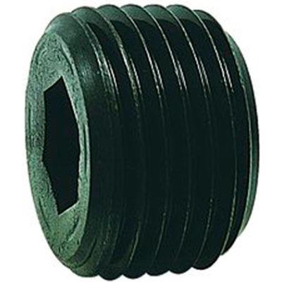 "1/16"" NPTF Socket Head Pipe Plug - 7/8"" Taper - Flush Seal - Steel - Pkg of 100 - Holo-Krome 12002"