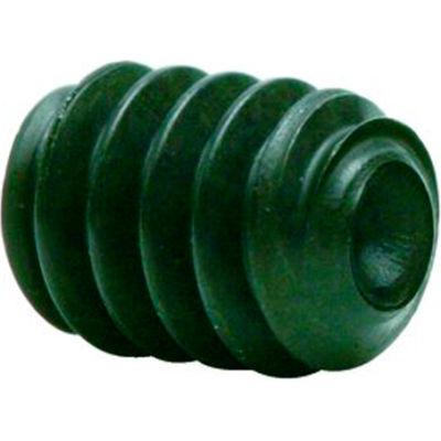 "7/16-20 x 1/2"" Hex Socket Set Screw - Cup Point - Alloy Steel - Black Oxide - USA - Pkg of 100"