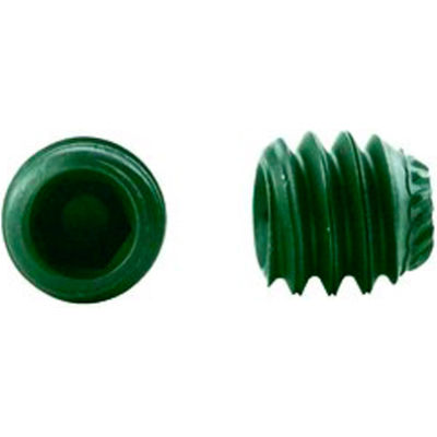 "1/4-20 x 1/4"" Knurled Point Socket Set Screw - Steel - Black Oxide - UNC - 100 Pk - Holo-Krome 42028"