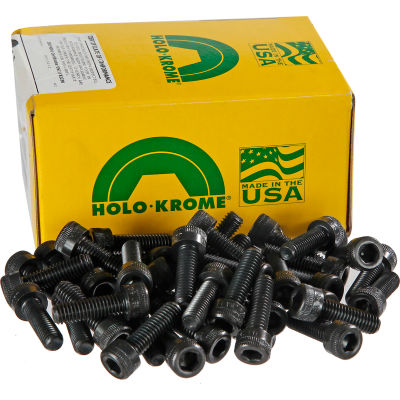 "3/8-16 x 1"" Socket Cap Screw - Steel - Black Oxide - UNC - Pkg of 100 - USA - Holo-Krome 72158"