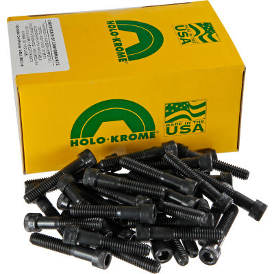 """3/8-16 x 3-1/2"""" Socket Cap Screw - Steel - Black Oxide - UNC - Pkg of 50 - USA - Holo-Krome 72178"""