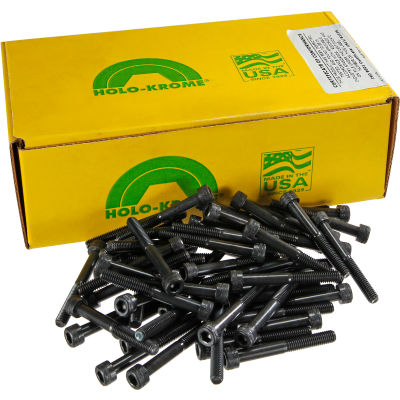 M6 x 1.0 x 100mm Socket Cap Screw - Steel - Black Oxide - UNC - Pkg of 100 - USA - Holo-Krome 76219