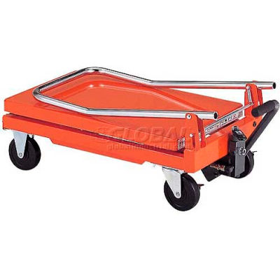 """HAMACO Standard Work Cart with Scissor Lift HLH-S120 - 22.4""""L x 13.8""""W Table - 220 Lb. Capacity"""