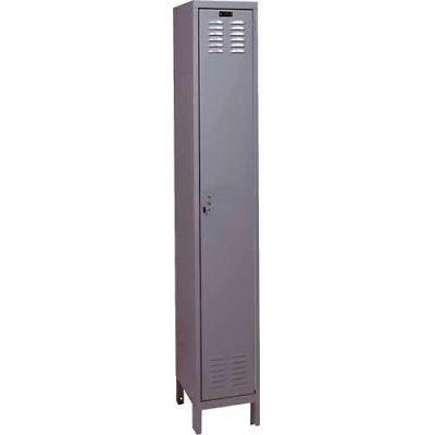 """Hallowell UH1258-1HG ValueMax Locker 12""""W x 15""""D x 72""""H - Single Tier 1 Wide KD - Dark Gray"""