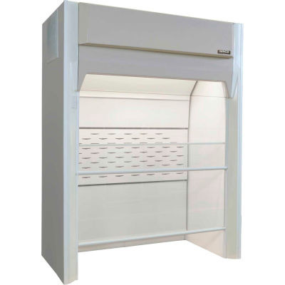 "HEMCO® SE FM Floor Mounted Walk-In Fume Hood with Explosion Proof Light, 72""W x 36""D x 94""H"