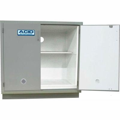 "HEMCO® Acid Base Cabinet, 36""W x 22""D x 35-1/4""H, 2 Doors, White"