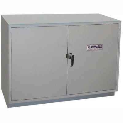 """HEMCO® Solvent/Flammable Cabinet, 48""""W x 22""""D x 35-1/4""""H, 2 Doors, White"""