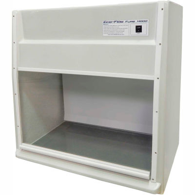 "HEMCO® EcoFlow Fume Hood with Vapor Proof Light and Built-In Blower, 24""W x 23""D x 36""H"