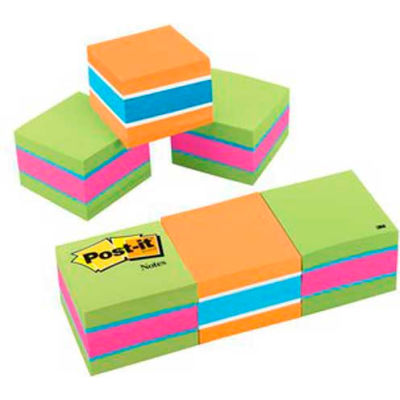 Post-it® Notes Mini Cubes, 2 x 2 Size, 400 Sheets/Pad, 3 Cubes/Pack