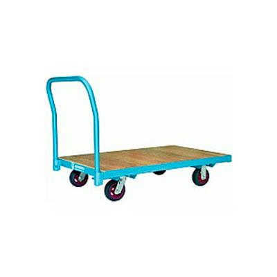Hamilton® Platform Truck 36 x 72 Wood Deck - 6 x 2 Polylast™ Wheels 2000 Lb. Cap.
