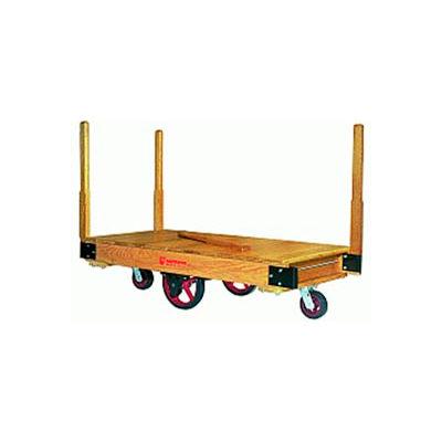 Hamilton® Tilt Truck 30 x 48 Solid Wood - Plastex Wheels 1500 Lb. Cap.