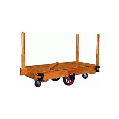 Hamilton® Tilt Truck 36 x 72 Solid Wood - Mold-on Rubber Wheels 3000 Lb. Cap.