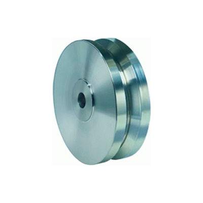 """Hamilton® Stainless V-Groove Wheel 4 x 1-3/8 - 1/2"""" Oilless Bearing"""